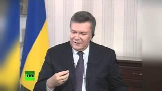 Полное интервью Виктора Януковича журналистам AP и НТВ(Президент Украины Виктор Янукович дал первое интервью с тех пор, как 22 февраля он был неконституционно..., 2014-04-03T14:29:54.000Z)
