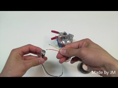 Unipolar Stepping Motor Running Without Driver Circuit