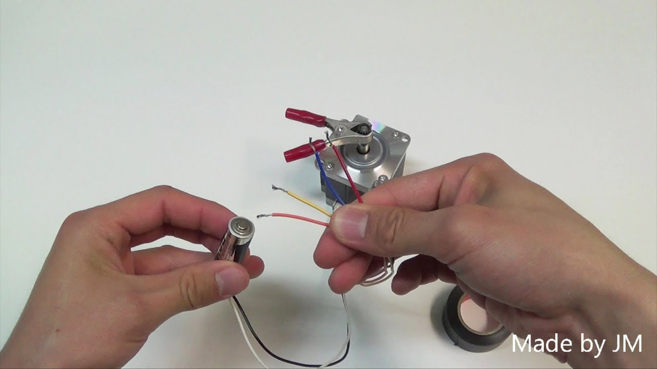 Unipolar stepping motor running without driver circuit for How to check stepper motor