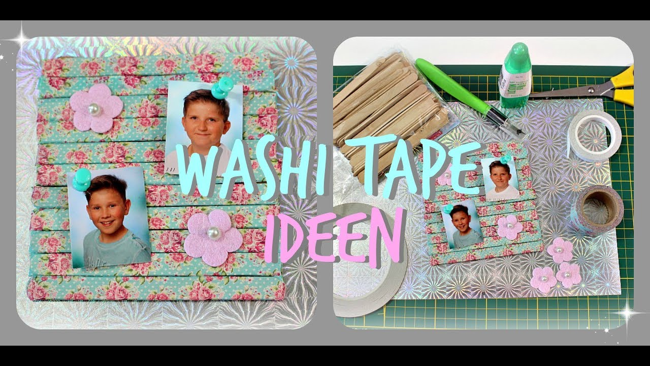 deko washi tape diy ideen deutsch masking tape fotowand 9999 dinge youtube. Black Bedroom Furniture Sets. Home Design Ideas