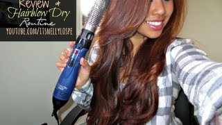 Review & Tutorial: Revlon Ionic Model RV440 + Hair Blowdry Routine! | itsnellylospe