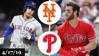 New York Mets vs Philadelphia Phillies Highlights | April 17, 2019