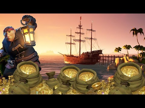A TREASURE HUNTER \\ SEA OF THIEVES CLOSED BETA GAMEPLAY