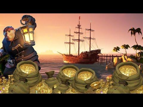 A TREASURE HUNTER \\ SEA OF THIEVES CLOSED BETA GAMEPLAY