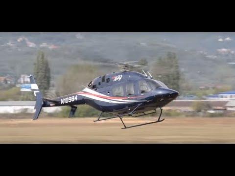 Bell 429 GlobalRanger lands on building helipad