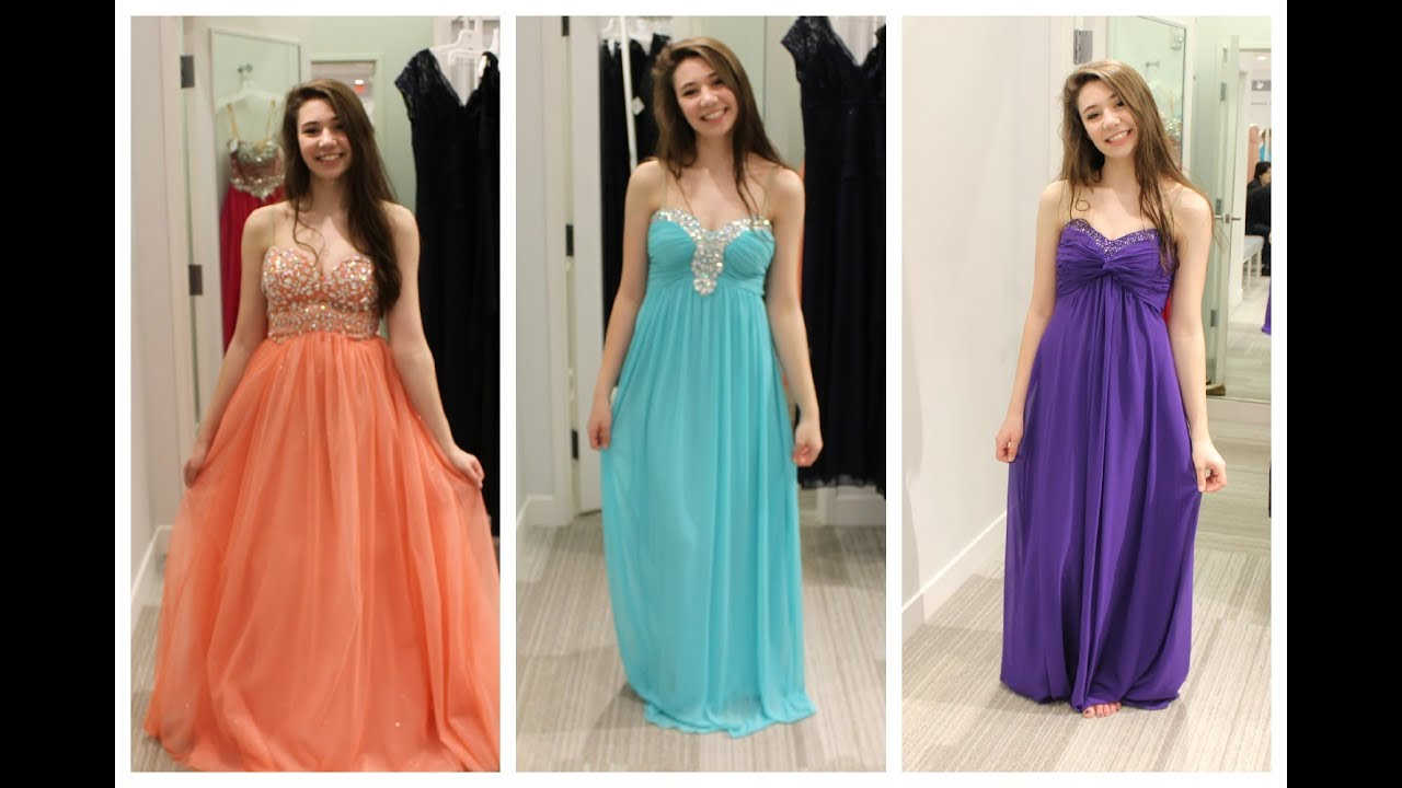 Looking For My Prom Dress 2015! - YouTube