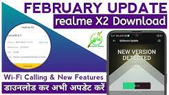 realme X2 February Update | WiFi Calling | Dark Mode Sunrise Sunset | Security Patch | realme UI