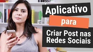 📱 Como Criar Post para REDES SOCIAIS de forma fácil e gratuita - Com App Sparkpost p/ celular e web