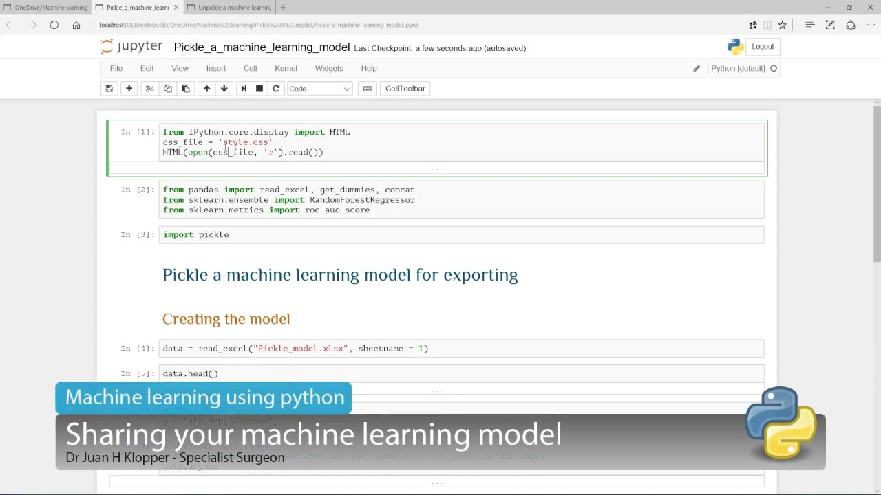 Sharing your Python machine learning model