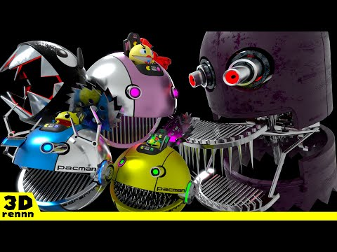 Pacman & Chain Chomp VS ROBOT GHOST