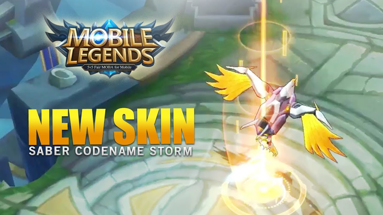 Mobile Legends New Hero Skin Saber CodeName Storm YouTube