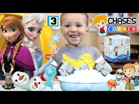 Chase's Corner: FROZEN Mystery Minis w/ SNOWBALL SURPRISE idea! Blind Box Opening w/ Dad (#3)