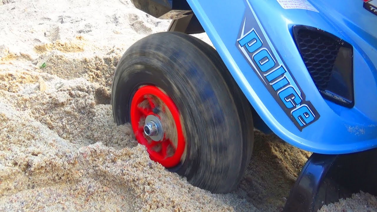 Paw Patrol policeman stuck in the sand