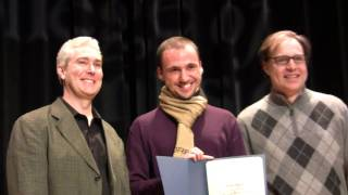 """Matteo Stronati receives the """"Thomas Dolby Production Award"""" from Berklee College of Music"""