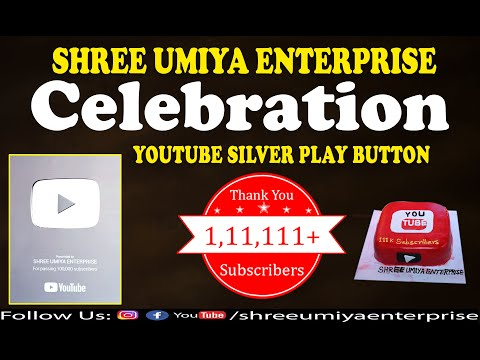 Silver Play Button | Youtube I Shree Umiya Enterprise | Aanand No Garbo I Celebration
