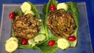 #52 )  Artichoke  Stuffed / Curry Paste