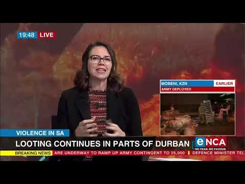 Violence in SA   Ongoing violence, looting rock Phoenix community