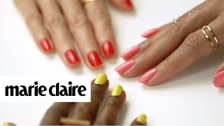 3 Nail Colors That Are Perfect For Your Skin Tone | Marie Claire + Revlon