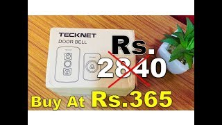 A Wireless Door Bell Only Rs 365 But How ?