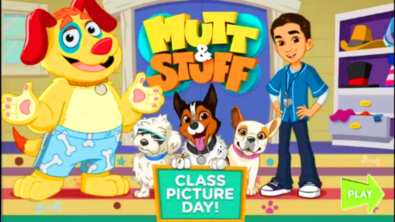 Mutt and Stuff Class Picture Day Nick Jr Game | Bath and Dress Up Dogs