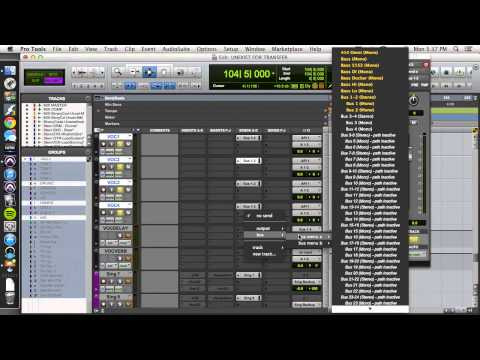 Setting Up a Vocal Buss and Effects Send in Pro Tools