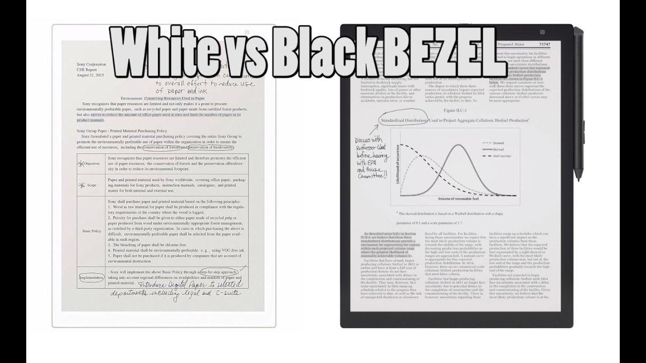e-Reader Black Bezel vs White Bezel when reading PDF's