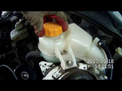 Слив охлаждающей жидкости на део нексии N100