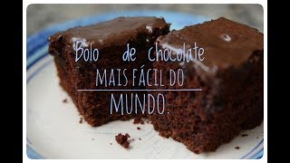 Bolo de chocolate mais fácil do mundo. thumbnail