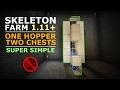SKELETON FARM | 1.12.2 & Below | Minecraft | LOOT COLLECTOR | No Redstone