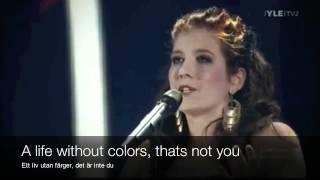 När Jag Blundar - Lyrics Translation in English Karaoke - Finnish Eurovision 2012