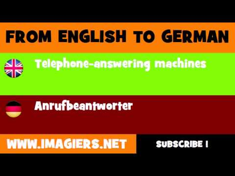 FROM ENGLISH TO GERMAN = Telephone answering machines