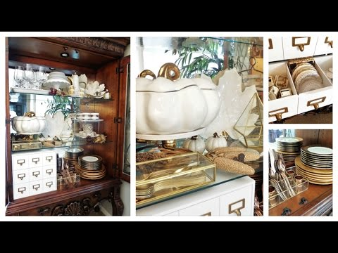 How To Style Your China Cabinet | China Cabinet Essentials For The Holidays