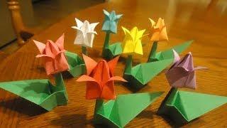 Como Hacer Flores De Tulipan En Origami