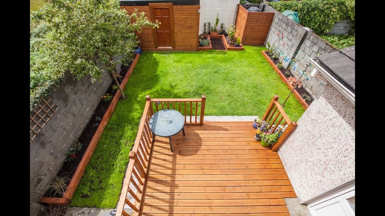 Back Garden Renovation New Shed Decking And Lawn YouTube
