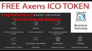 Free Crypto Token | Axens | Get Tokens Now - Upcoming Crypto Currency
