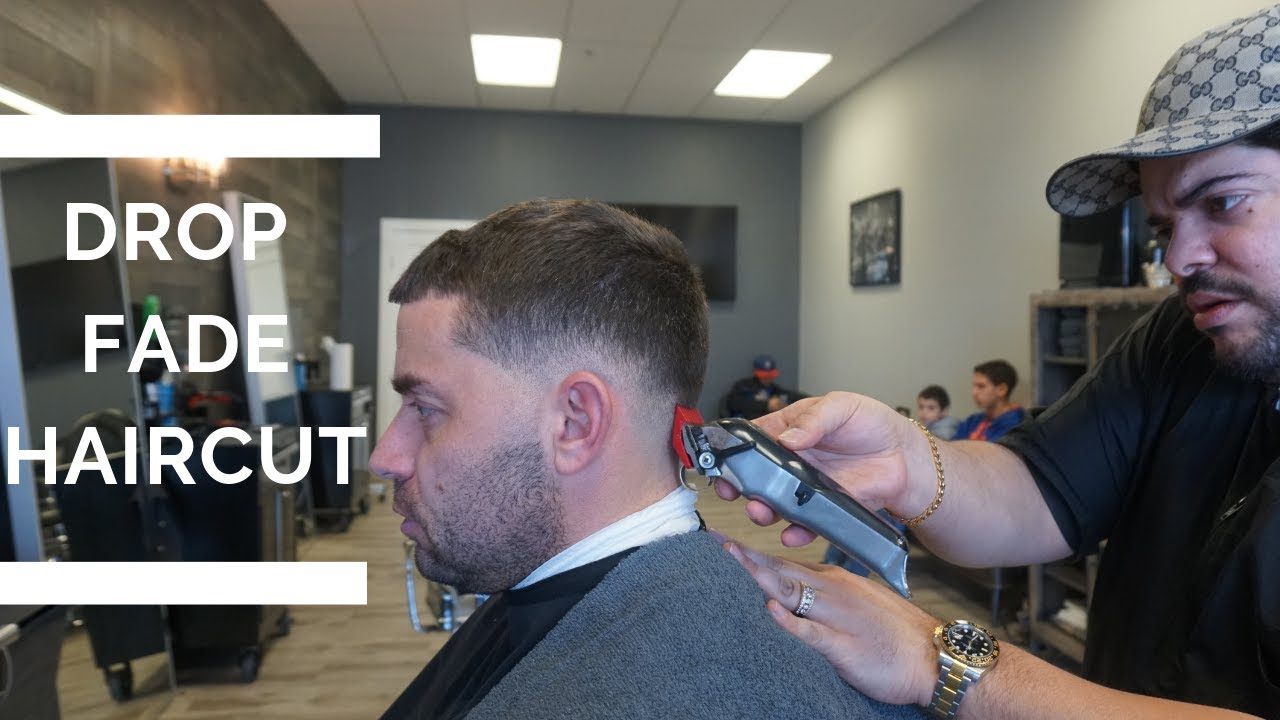 drop fade haircut tutorial