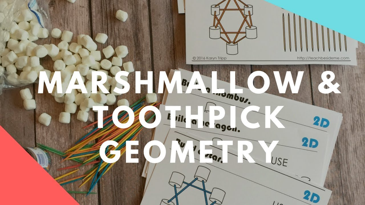 graphic about Building With Toothpicks and Marshmallows Printable named Marshmallow Toothpick Geometry