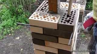 как сделать столбики из кирпича
