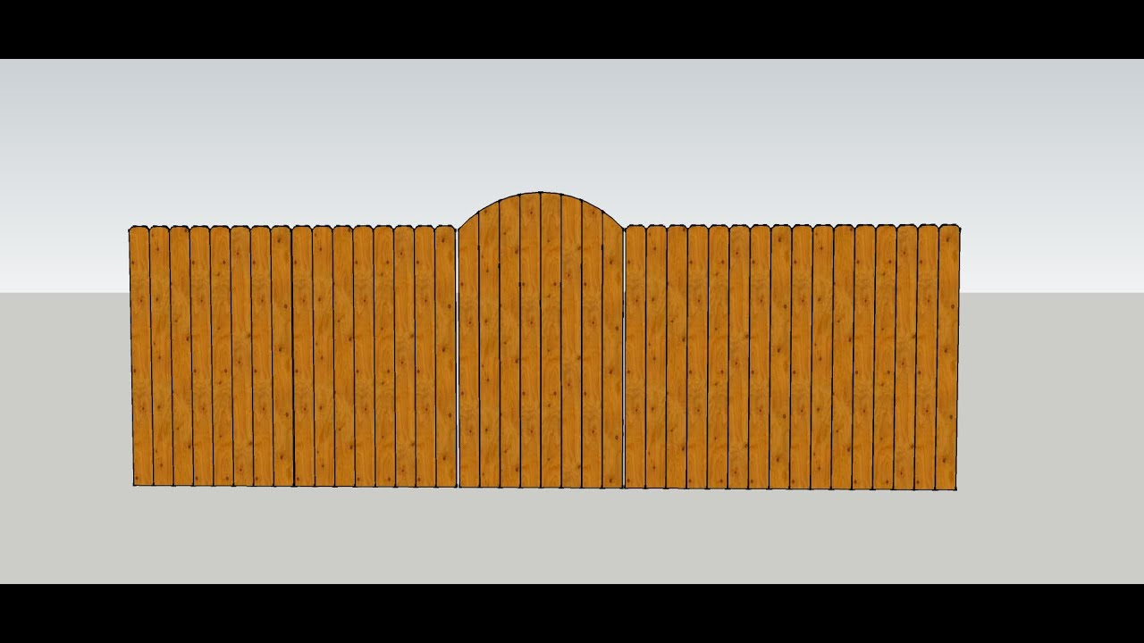 Formula For Making Curved Wood Fence Gate Top