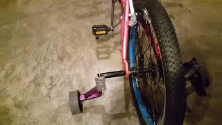 Training wheels on 24 inch bike