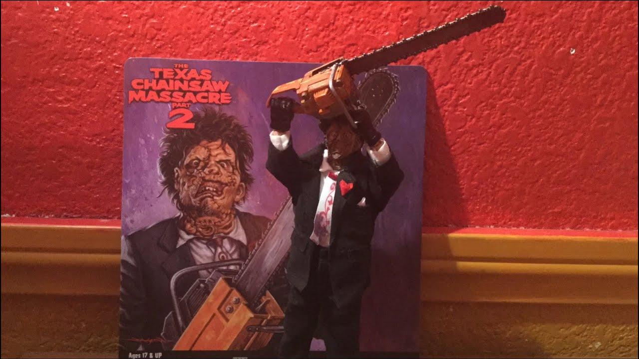 fdee30ab771 NECA Retro Texas Chainsaw Massacre 2 Leatherface Figure Review - YouTube