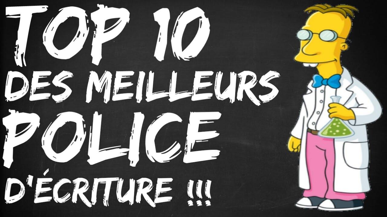 Préférence TOP 10 DES MEILLEURES POLICE D'ÉCRITURE - YouTube AY61