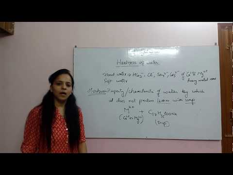 Hardness Of Water (lecture 1) By ANU SAMBYAL