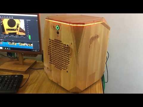 gabinete ITX madeira, wooden PC case