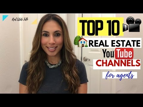 TOP 10 Real Estate YouTube  Channels for Agents