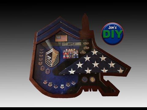 DIY Air Force Shadowbox (F-15 + SMSgt)