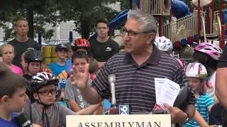 Tedisco 2015 Safe Summer Bike Helmet Safety Kick-Off