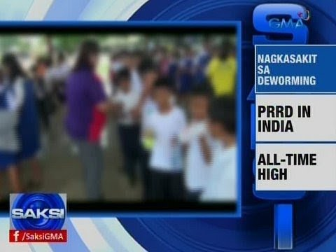 Saksi: News Bullets: Nagkasakit sa deworming; PRRD in India; PSE all-time high