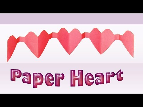 How To Make A Paper Heart For Gift [ DIY-Envelope Paper Heart Card Gift ]