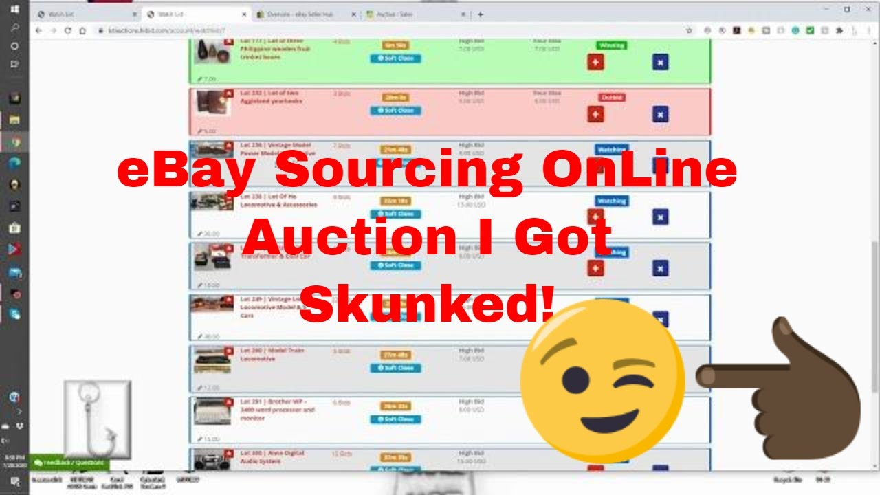 Sourcing For My Ebay Store In Local On Line Auction Got Skunked Youtube
